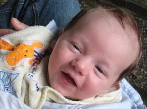 Fergus grins