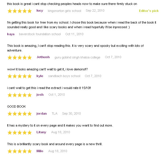 Reviews  of Takeshita Demons for Booked Up BookTrust