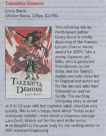 Takeshita Demons book review in West Australian