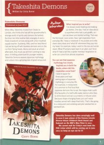 Takeshita Demons adventure for ages 8-12 review in Read it Magazine