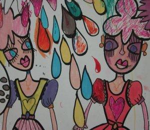 Paula Hart kids interactive mural at Perth Writers Festival