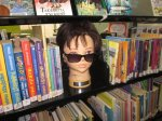Nukekubi hanging at the library in some sunnies from Lost Property (are they yours?)