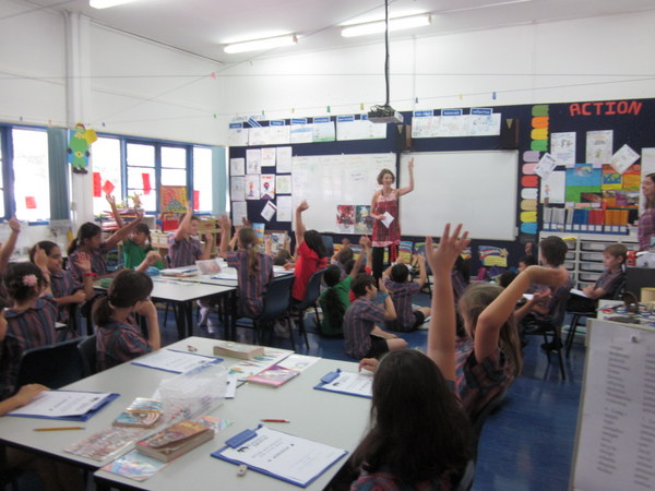 School author visit at Chatsworth International in Singapore