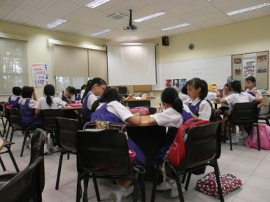 writing workshop at CHIJ Kellock8
