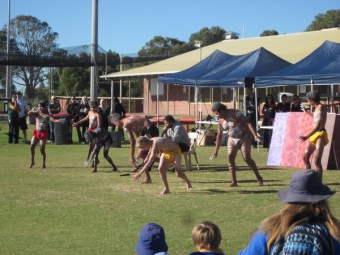 Awesome Aboriginal dance troupe