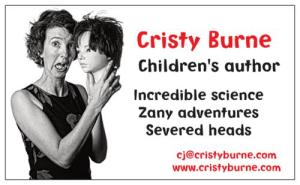Cristy Burne business card