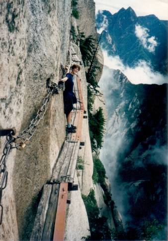 Climbing Hua Shan in China