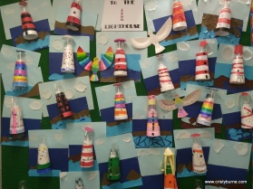 Lighthouse with candles