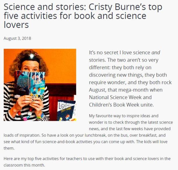 Activities for Science Week and Book Week.JPG