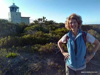 Cristy Burne at Foul Bay Lighthouse