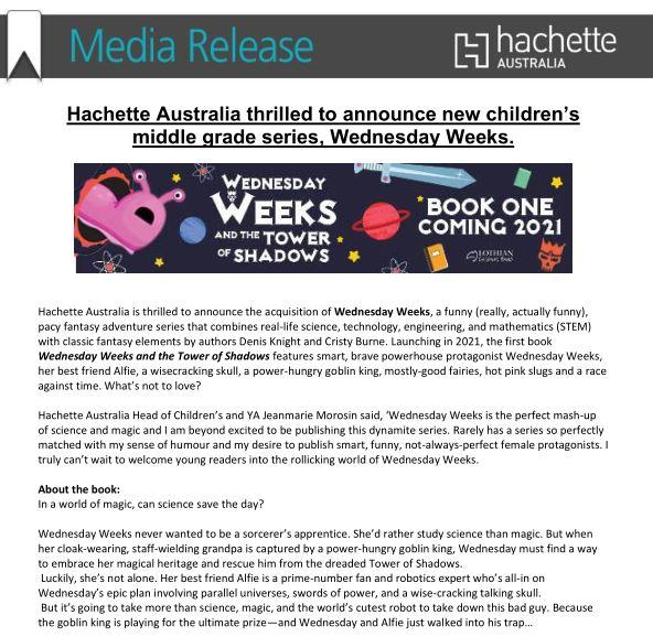 Media release snapshot
